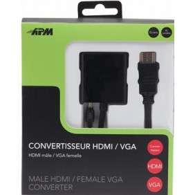 CONVERTISSEUR HDMI / VGA MALE / FEMELLE NOIR (590472)
