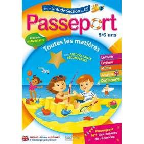 PASSEPORT CAHIER DE VACANCES 2020 - DE LA GS AU CP - 5/6 ANS