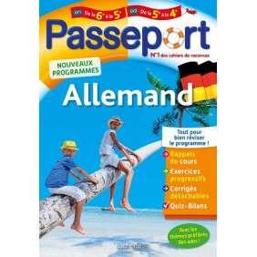 PASSEPORT - ALLEMAND DE LA 6E A LA 5E OU DE LA 5E A LA 4E