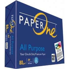 Paper One Papier Rame 500 Feuilles Paper One All Purpose Copier Paper Format A4 - 80g