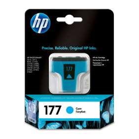 HP - Cartouche d'encre Cyan n° 177 - C8771HE