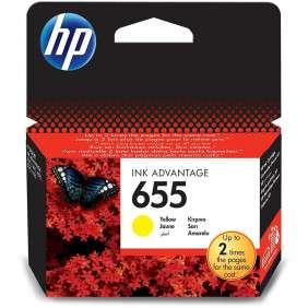 HP 655 Jaune - Cartouche d'encre HP d'origine