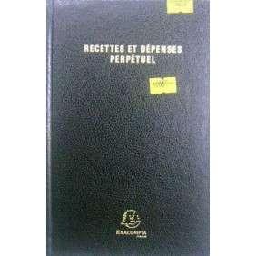 AGENDA RECETTE DEPENSE PERPETUEL NOIR