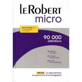 Le Robert Micro - Dictionnaire d'apprentissage du français