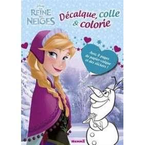 La Reine des Neiges - Décalque, colle et colorie